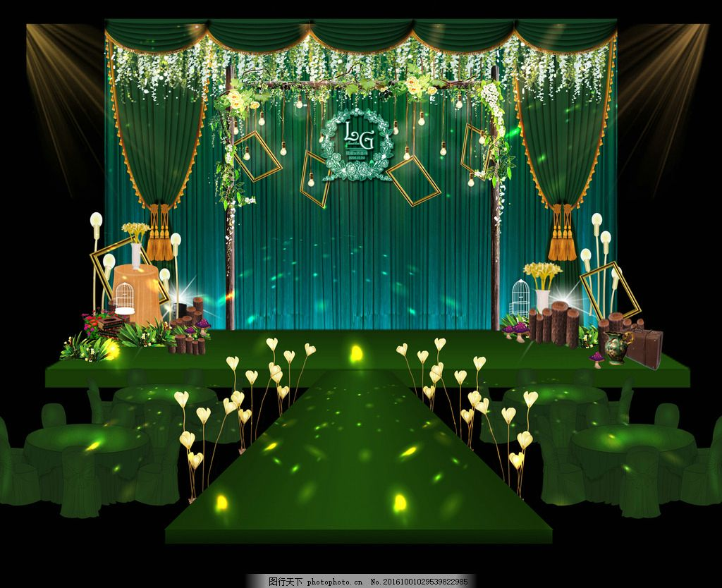 森系婚礼舞台效果图