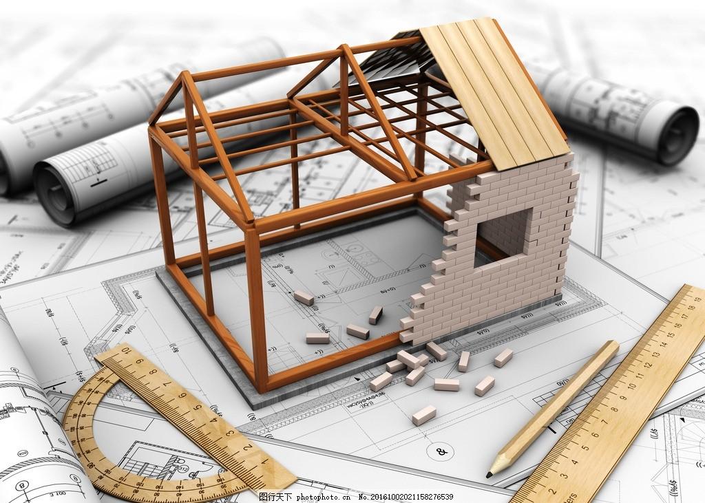 手绘建筑三维图