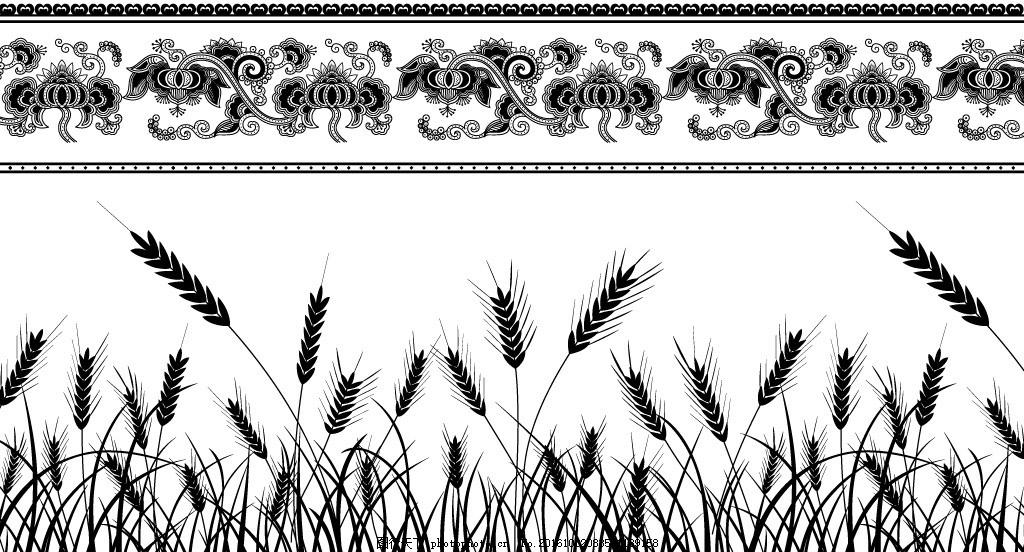 线条 欧式 设计 文化艺术 底纹 底边 欧式花纹 设计 底纹边框 条纹