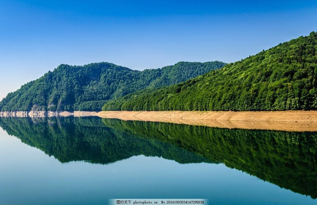 湖光山色 自然 风景 风光 青山 倒影 摄影