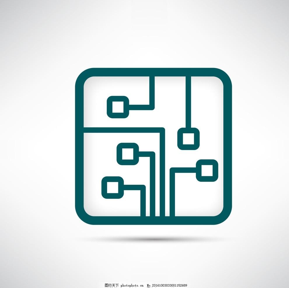 电路板的标志 标识技术 企业 企业形象 电子 符号 芯片 白色