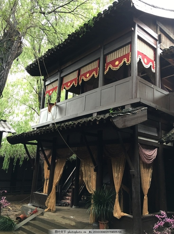 客栈 古代客栈 戏台 古建 唐代建筑 唐宋客栈 古代小楼 摄影