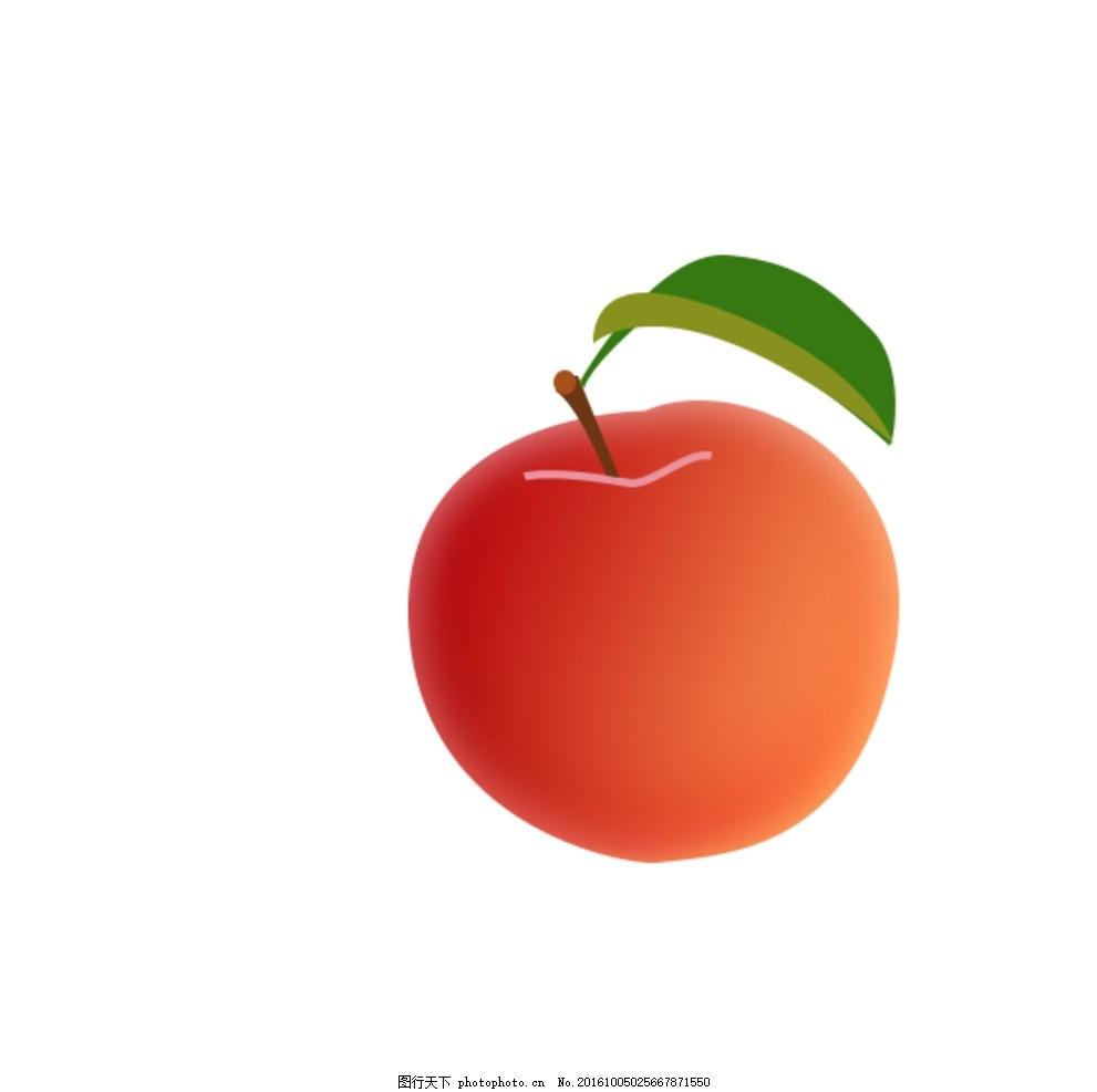 苹果 水果 红苹果 写实 树叶 设计 生活百科 餐饮美食 300dpi psd