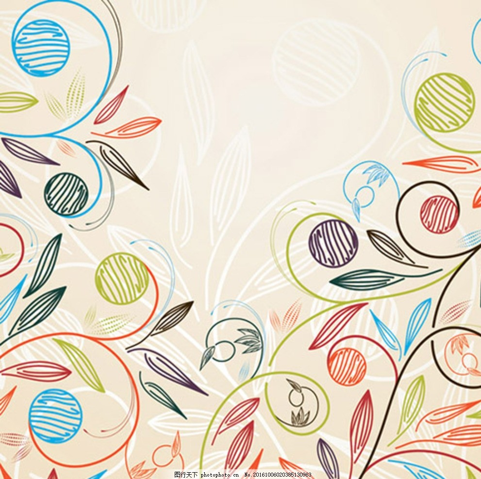 欧式植物花纹 植物花边 植物花纹素材 墙贴植物花纹 热带植物花纹