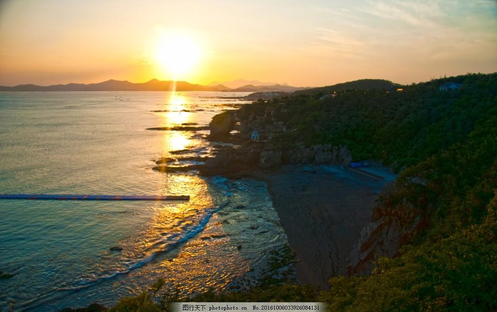 海边日落 大连 滨海地质公园 金石滩 摄影 国内旅游