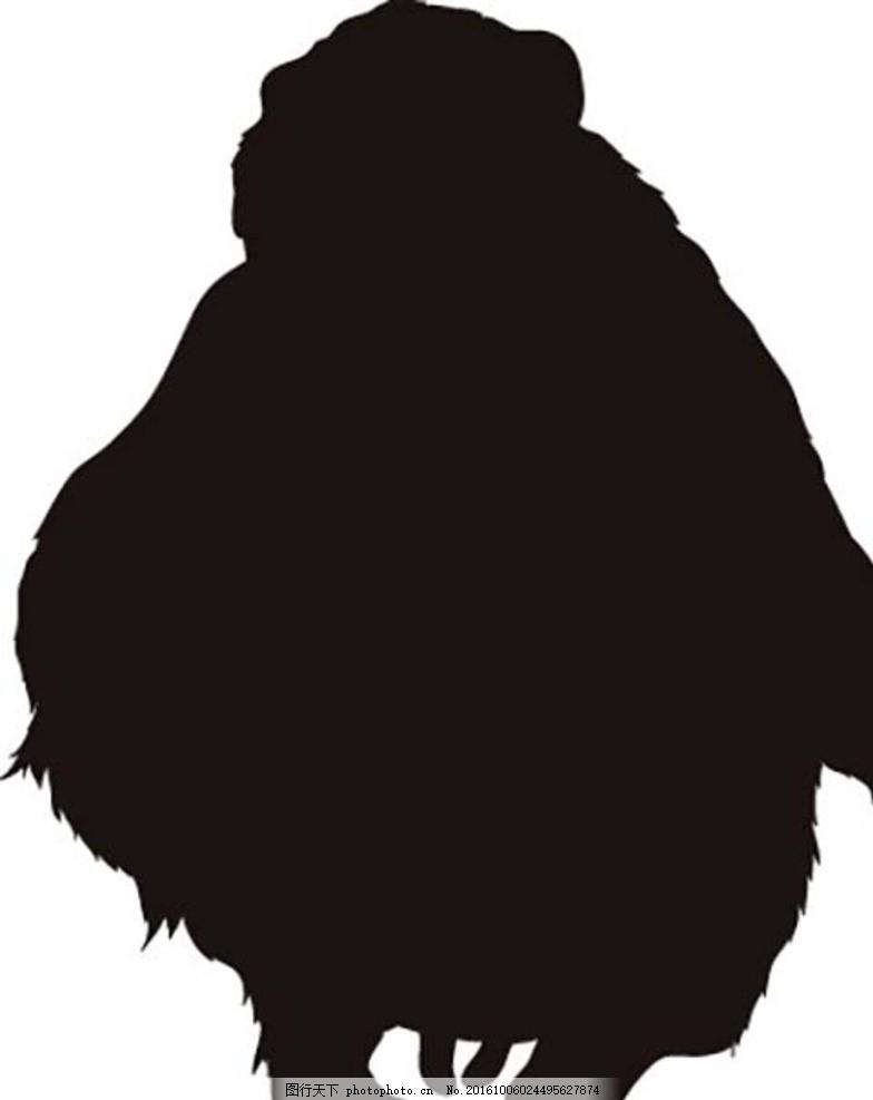 孙悟空 海豚 动物黑白剪影 动物剪影 黑白剪影 生物世界 动物世界