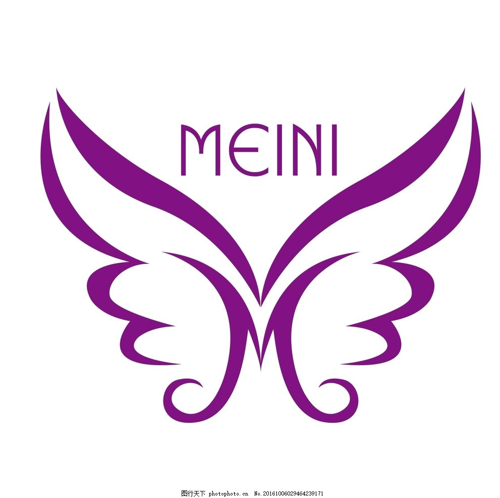 m艺术字logo m 艺术字 变形字      蝴蝶 美容logo 设计 广告设计