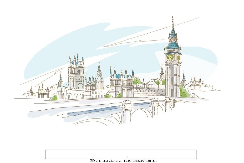 手绘伦敦塔