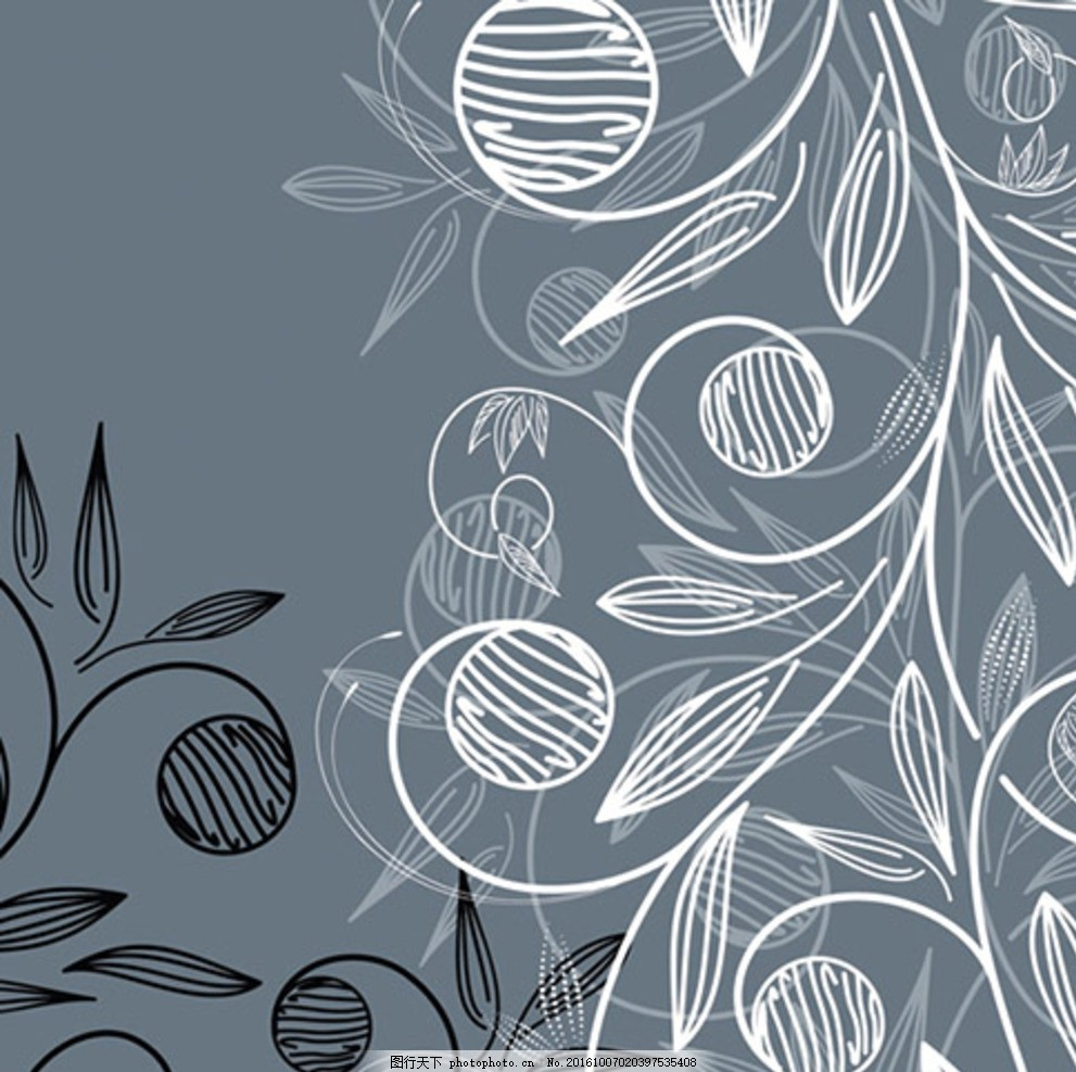 粉笔画植物 粉笔画 植物 欧式植物花纹 植物花边 植物花纹素材 墙贴