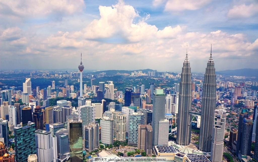 城市 天际线 建筑物 市容 马来西亚 吉隆坡 高楼林立 吉隆坡双子塔
