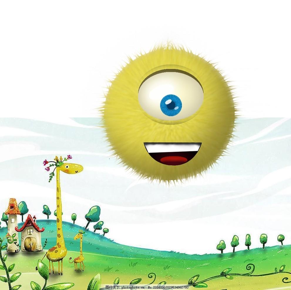 萌物 卡通 卡通 萌 小清新 背景 长颈鹿 设计 广告设计 广告设计 300