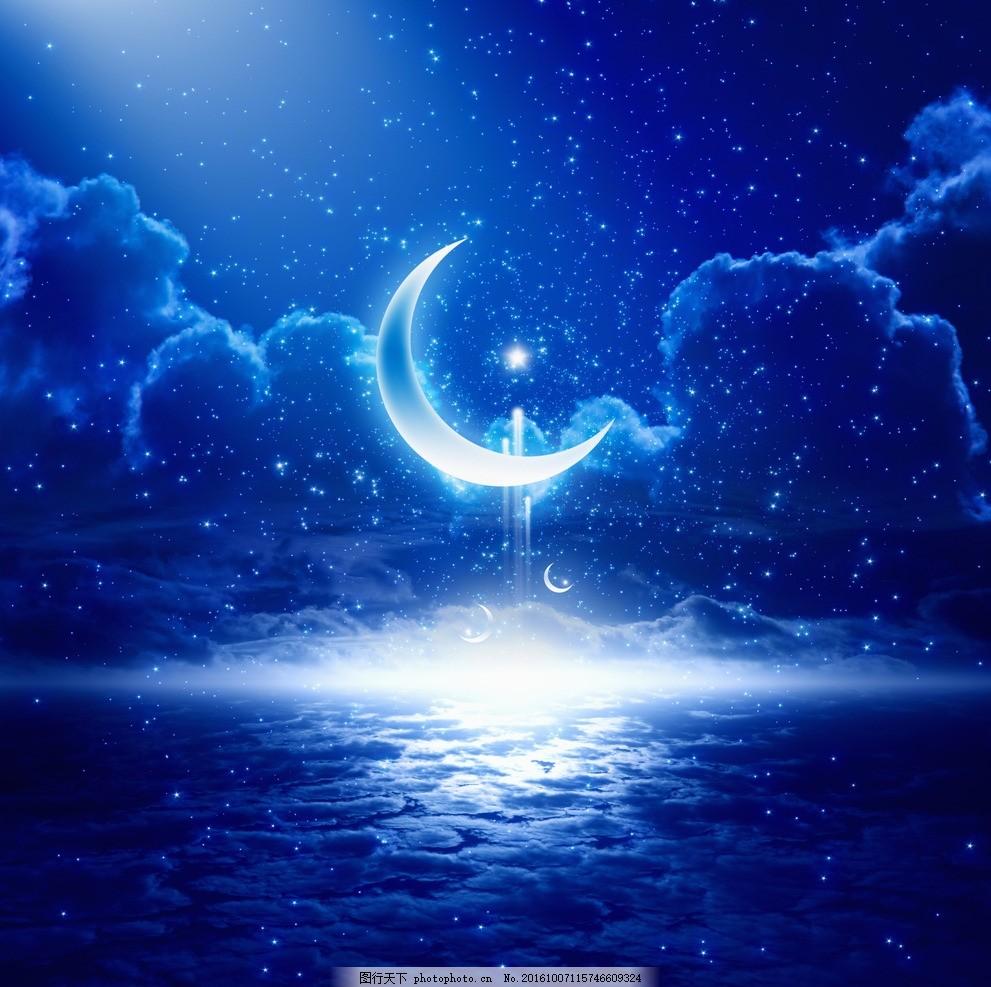 彩铅手绘图片简单夜空