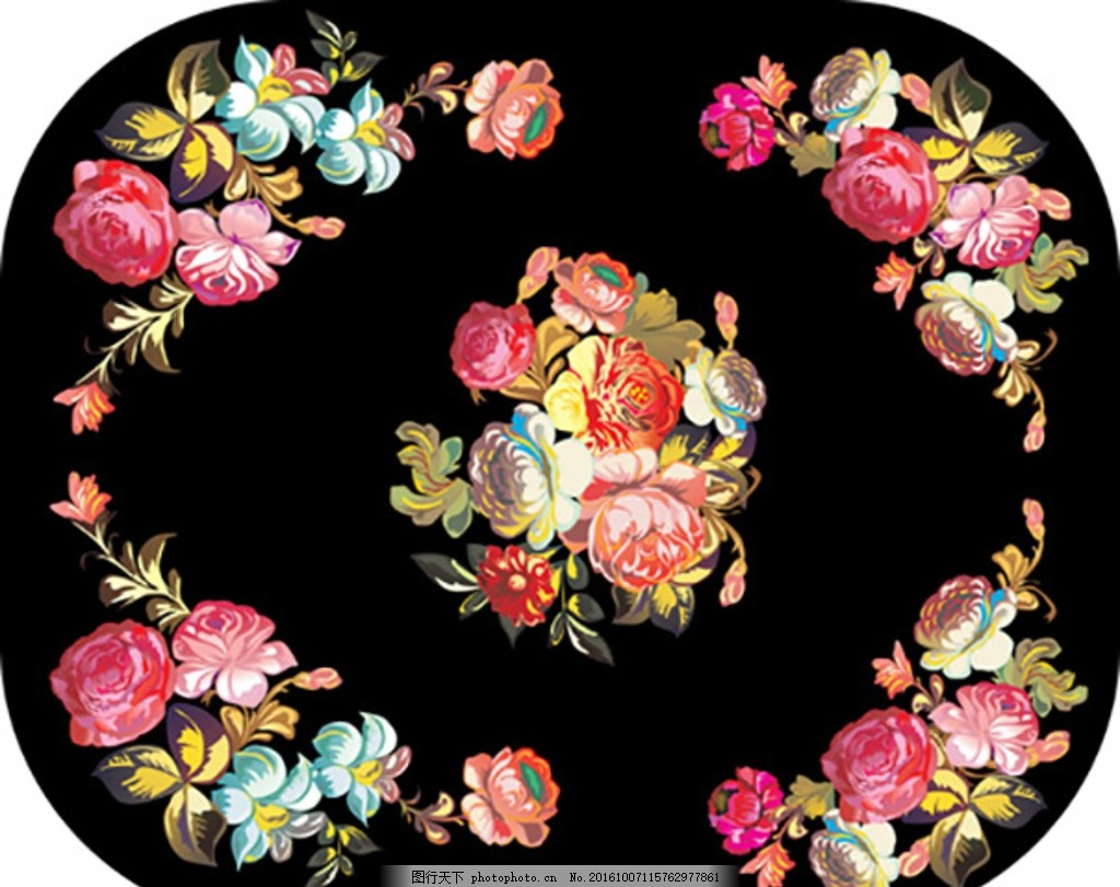 牡丹 手绘 牡丹 古风水墨边框 中国风边框 韩国手绘边框 小清新边框