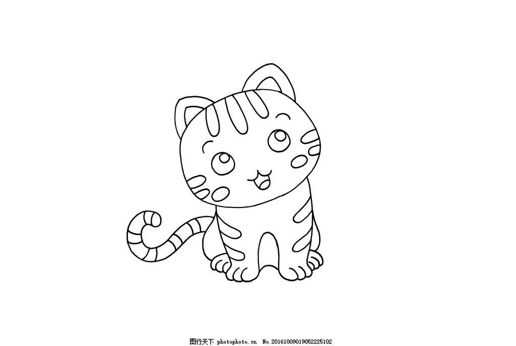 手描 猫 素描 动画 动物