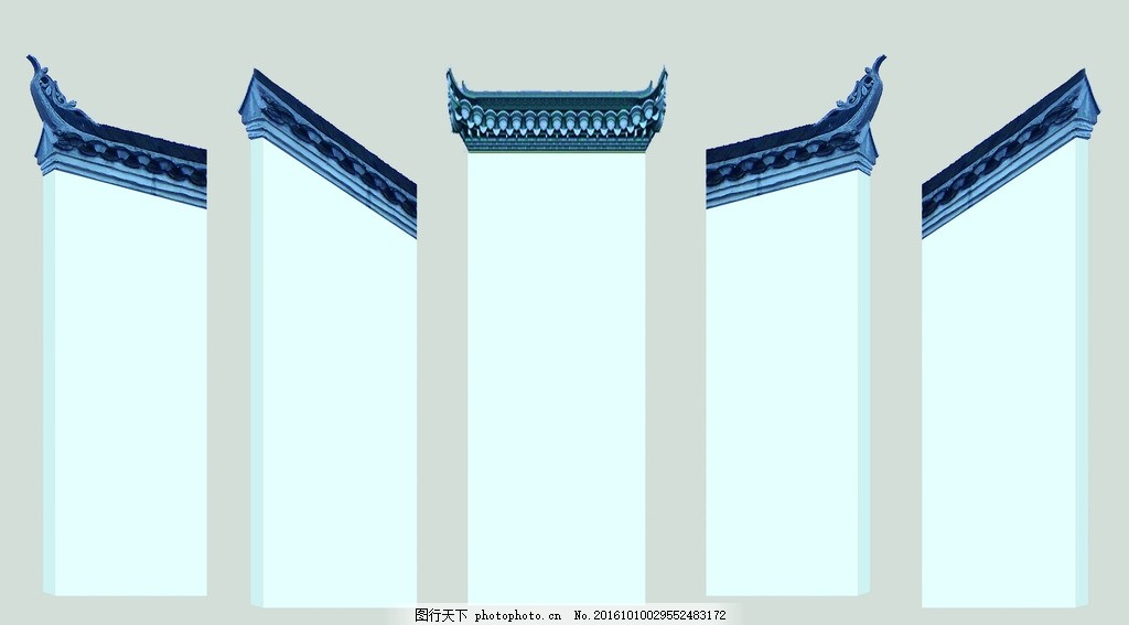 舞台背景 屋檐背景 徽式建筑 屋檐 移动舞台背景 设计 广告设计 广告图片