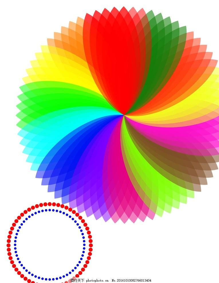 渐变色块 花纹 半透明 圆圈 花瓣 底纹边框 背景底纹