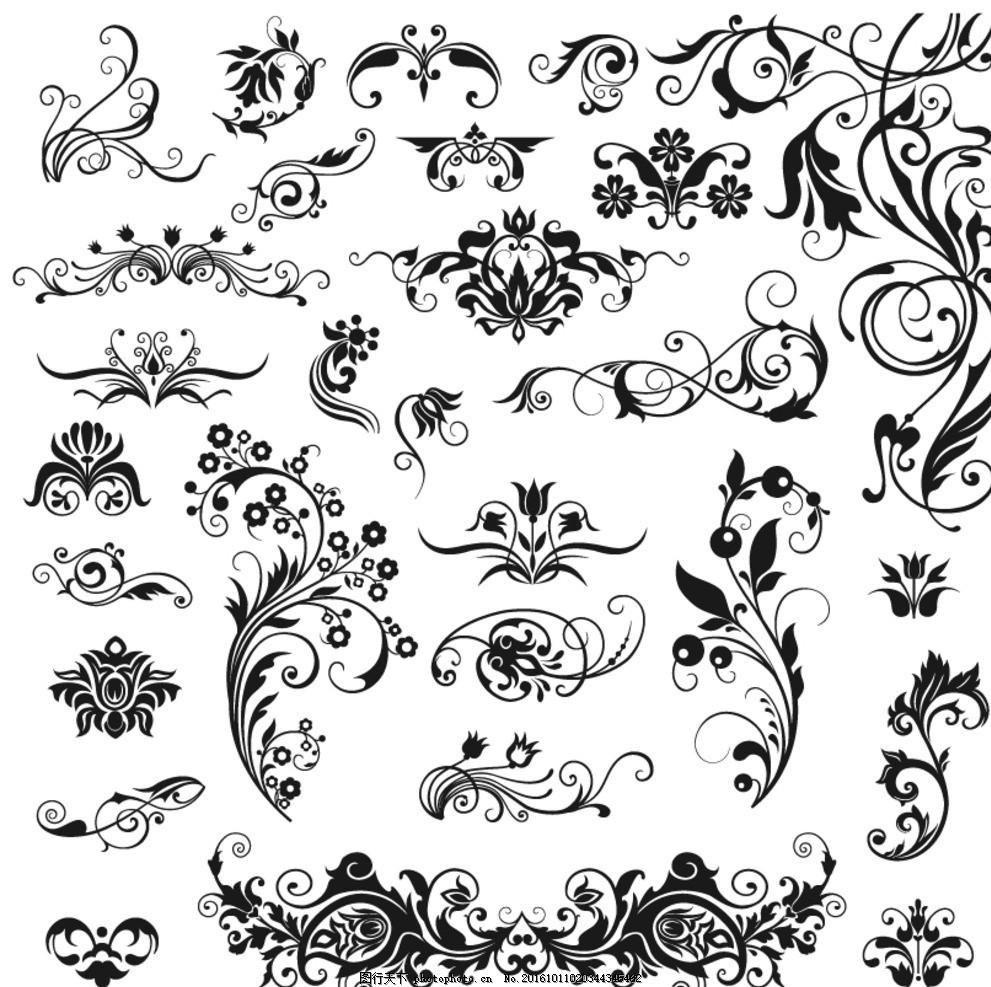 矢量边框 中式花纹 欧式花纹 边框素材 背景 边框底纹 中国风边框