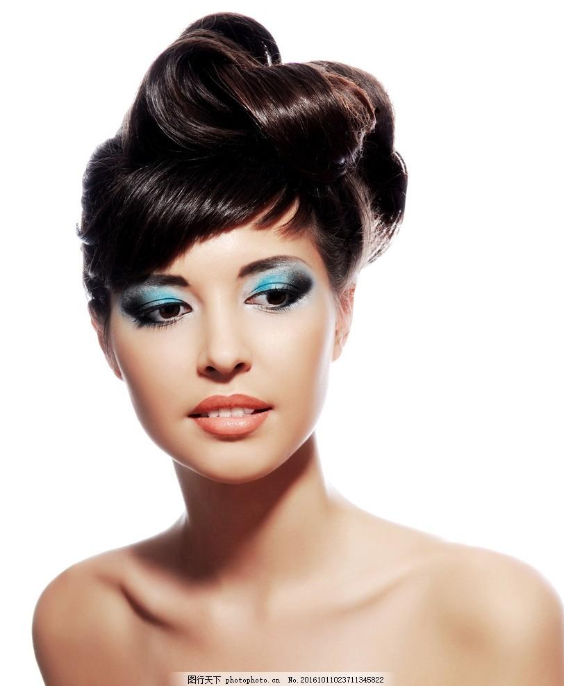 欧美美女 飘逸长发 外国模特 洋模特 吹拉烫染 染发 好发质 美发 头发图片