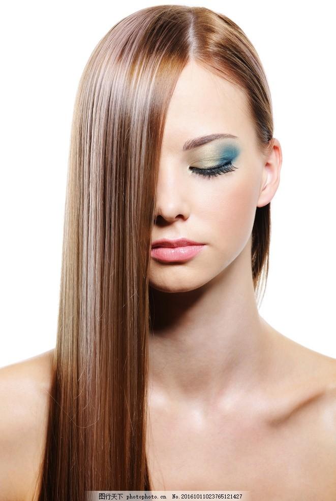 外国模特,美发模特 发型 秀发 头发 女性模特 国外-图图片