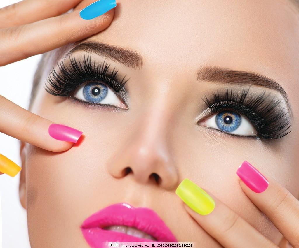 美甲展示 美甲模特 彩妆美女 彩妆展示 美甲美女 彩妆模特 美女彩妆