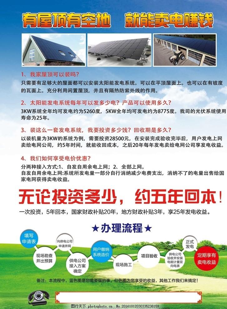 太阳能光伏发电 光伏宣传 广告海报
