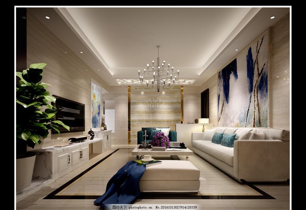 现代风格客厅设计 现代风格 客厅背景 沙发背景 地砖 墙砖 吊顶 设计
