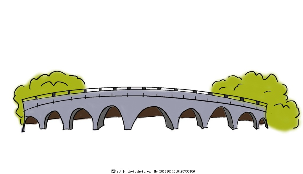 成都九眼桥 手绘 建筑 动漫动画
