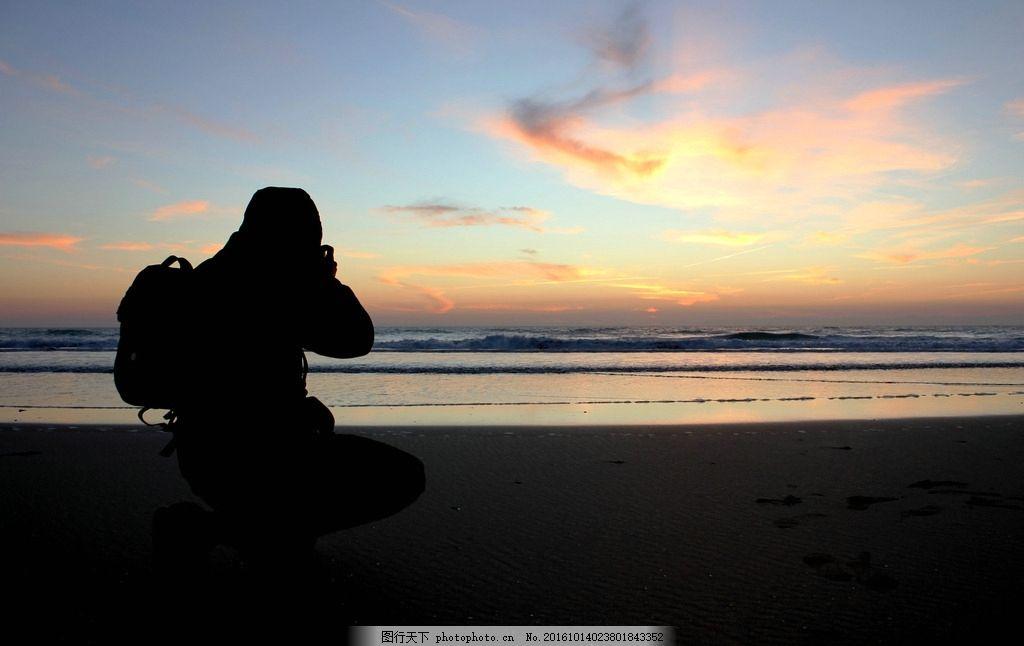 一个人的旅行 旅行 一个人 背影 天空 夕阳 大海 各色人物 摄影 人物