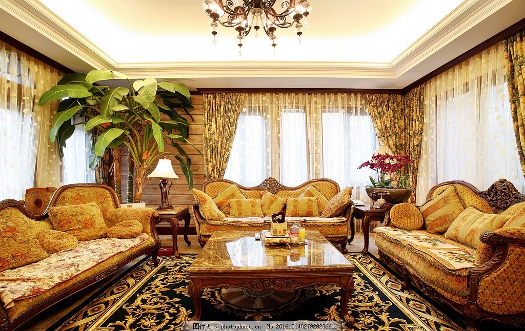 欧式客厅 效果图 室内装饰 沙发 欧式沙发 地毯 欧式地毯 摄影