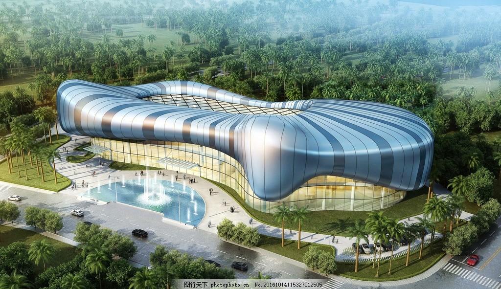 异型建筑 运动场馆 运动健身 运动中心 健身中心 海南 海花岛