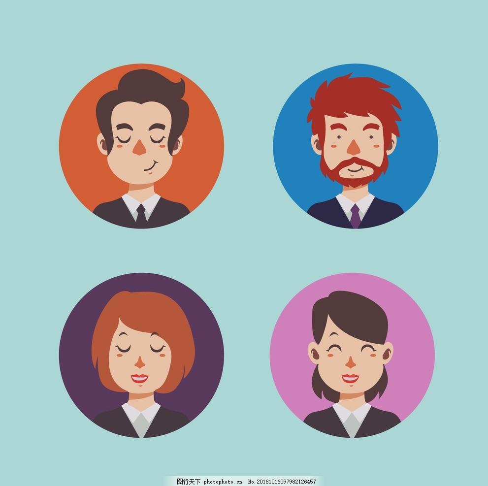 商务男性和女性的化身