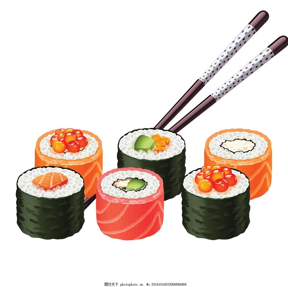 卡通 可爱寿司 简笔画