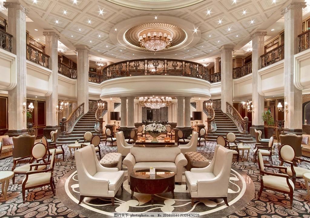 高档酒店 大堂 酒店大堂过道 大堂 过道 奢华 酒店大厅 商业空间 欧式