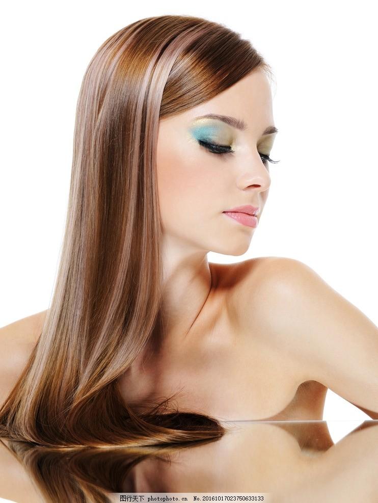 棕发 美女 气质美女 欧美美女 美容 护肤 外国模特 洋模特 美发 头发