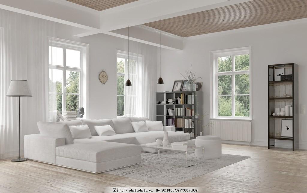 客厅 唯美 家居 家具 欧式 简洁 简约 浪漫 长沙发 亮色系