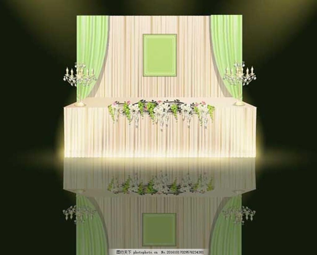 婚礼设计 绿色 梦幻 木桩 小清新 签到区 森系 wedding 水晶灯 藤蔓
