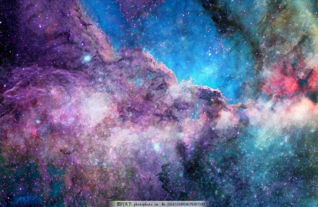 星空 太空 星云 色彩 彩色 背景 宇宙 银河 星空背景 抽象背景 唯美