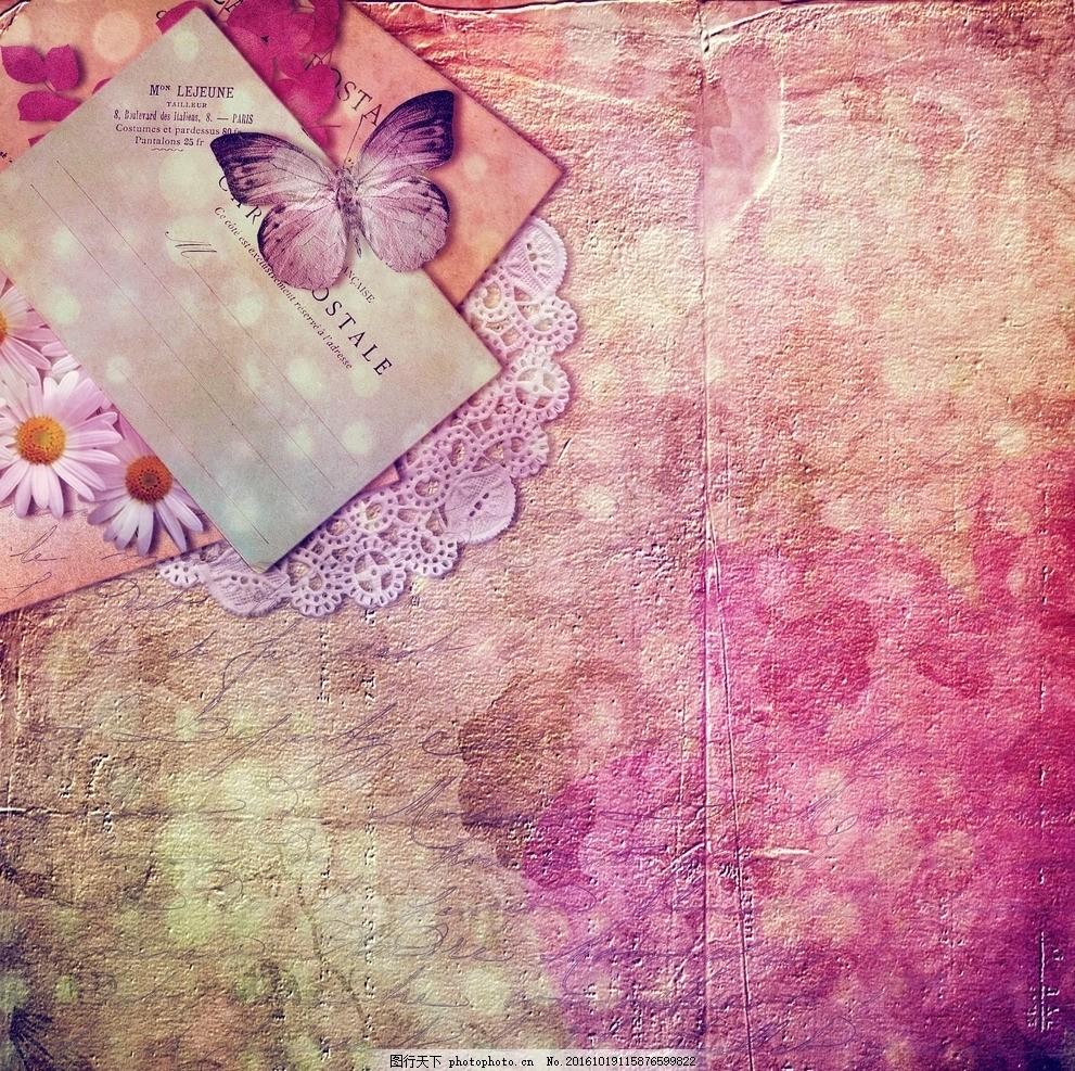 信纸 纸张 油墨 粉色 女性主题 西方油画 欧美复古画 复古画 欧式花纹