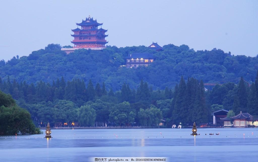 杭州市西湖 美丽西湖 吴山 风景     旅游在杭州 三潭印月 西湖十景