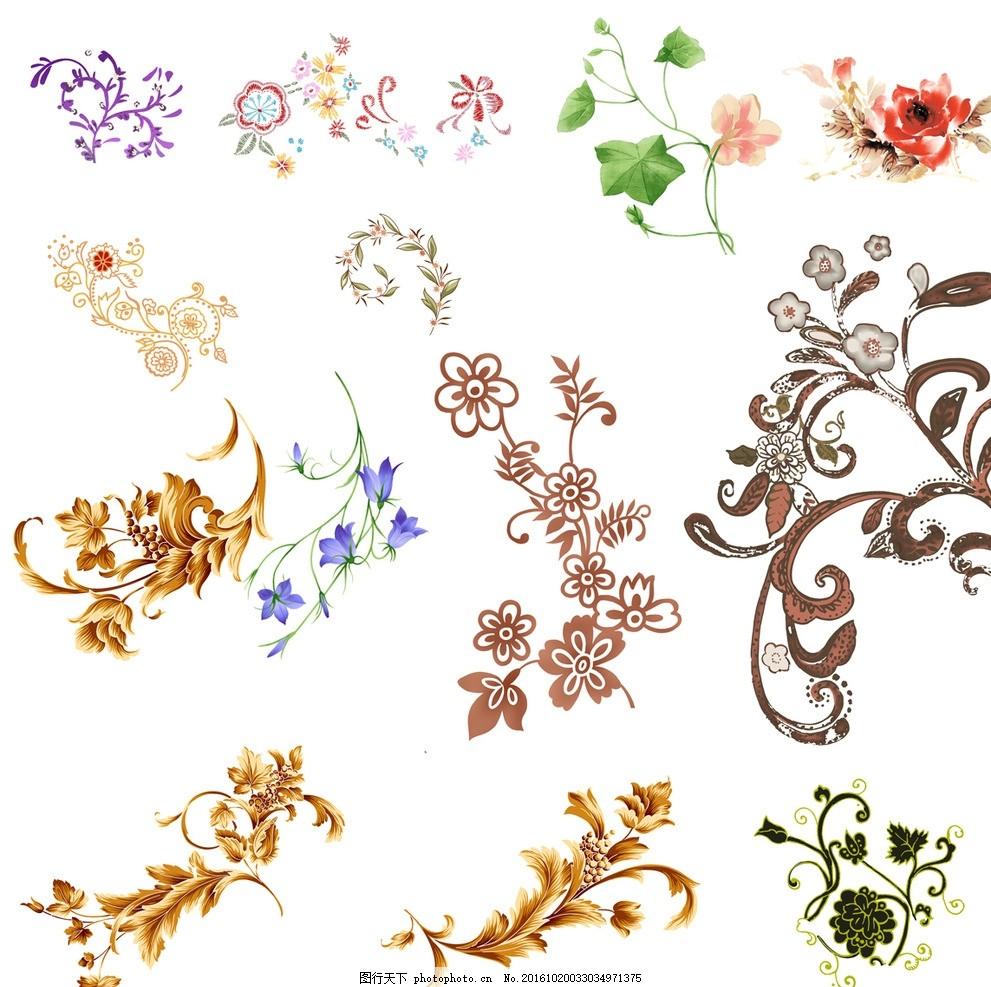 花纹 花儿 花框 结婚 小清新 欧式花边 底纹边框 花边花纹 相框