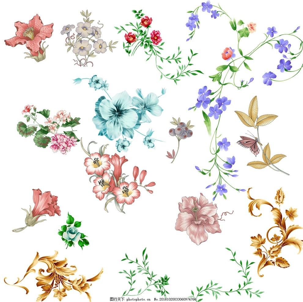 祥云 花藤 花纹 花条 藤条雕花 中式边框 西式边框 中式花纹 欧式花