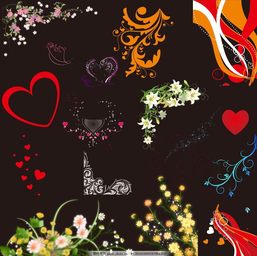 花 花儿 花框 结婚 小清新 欧式花边 欧式 设计 底纹边框 花边花纹 边