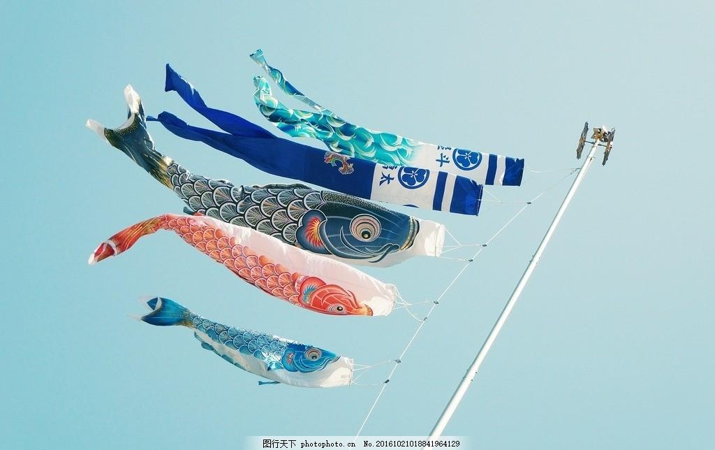 鱼类风筝 鱼类 风筝 日本风筝 异域风情 唯美 小清新 摄影 文化艺术
