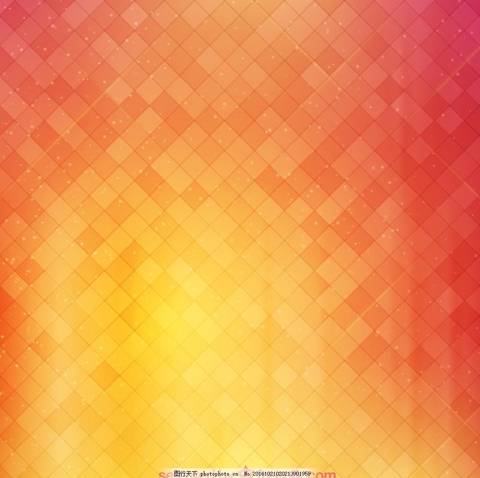 橙色方格子渐变矢量背景 橙色 方格子 方块 渐变 矢量 背景 明亮 简洁
