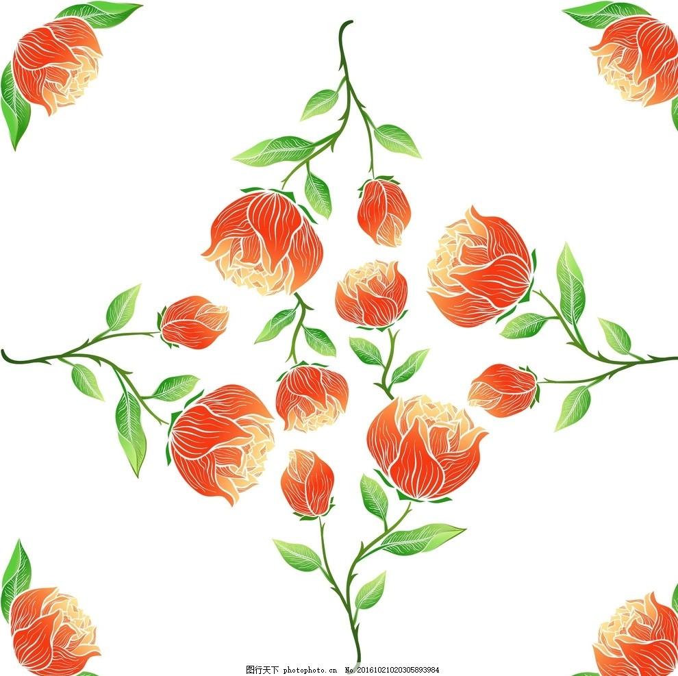 花朵手绘 线条 背景 壁纸 星星 蝴蝶 底纹 边框