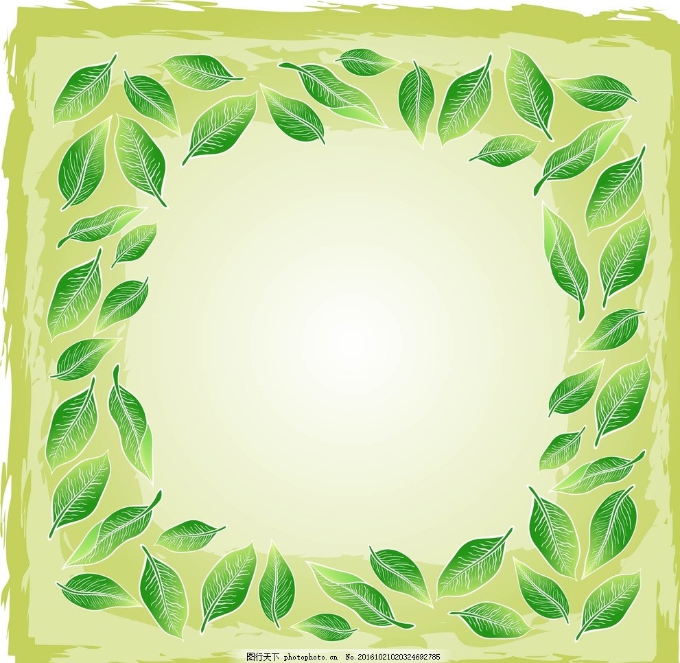 手绘线条 背景 壁纸 树叶 花纹 底纹 边框