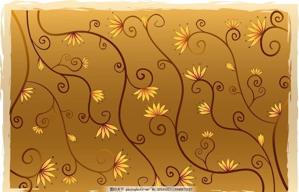 手绘线条 树木 卡通树 矢量树 植物 简单 底纹 底纹边框 花边花纹