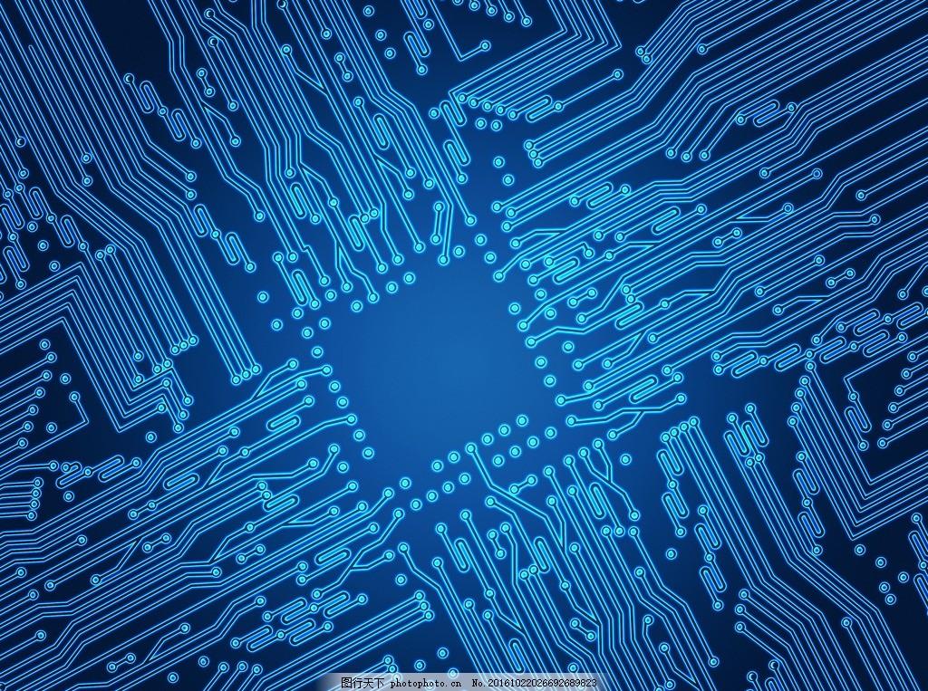 电路板元素 电路板素材 显卡 主板 电脑 cpu 科技 科技背景 蓝色集成