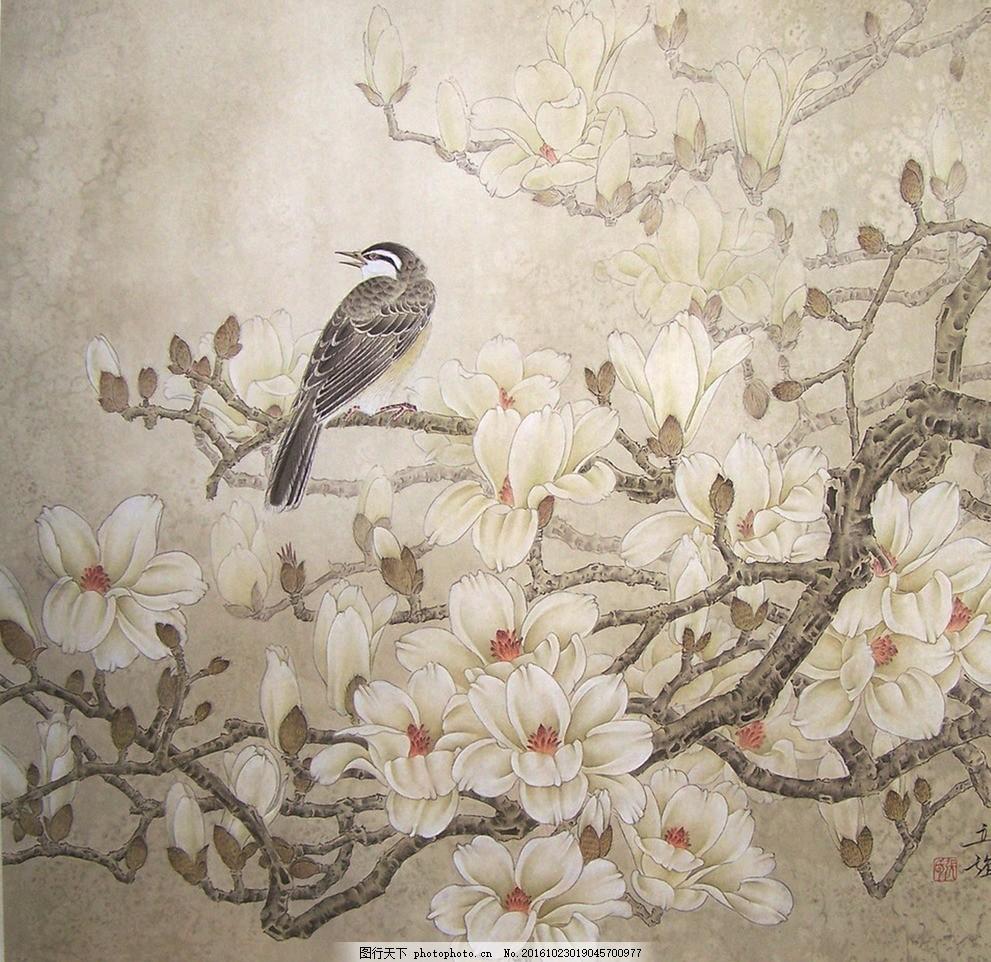 花鸟工笔画 花鸟 工笔画 手绘花鸟 国画 墙纸 装饰画 中国风 屏风