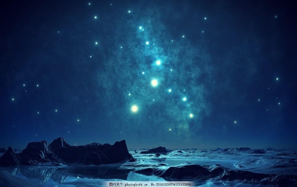 夜色 黄昏的天空 黎明前的夜空 星空 摄影 自然景观 自然风景 72dpi j